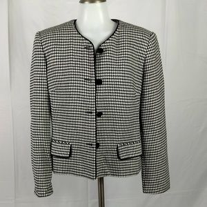 Talbots Blazer Size Medium Hounds Tooth